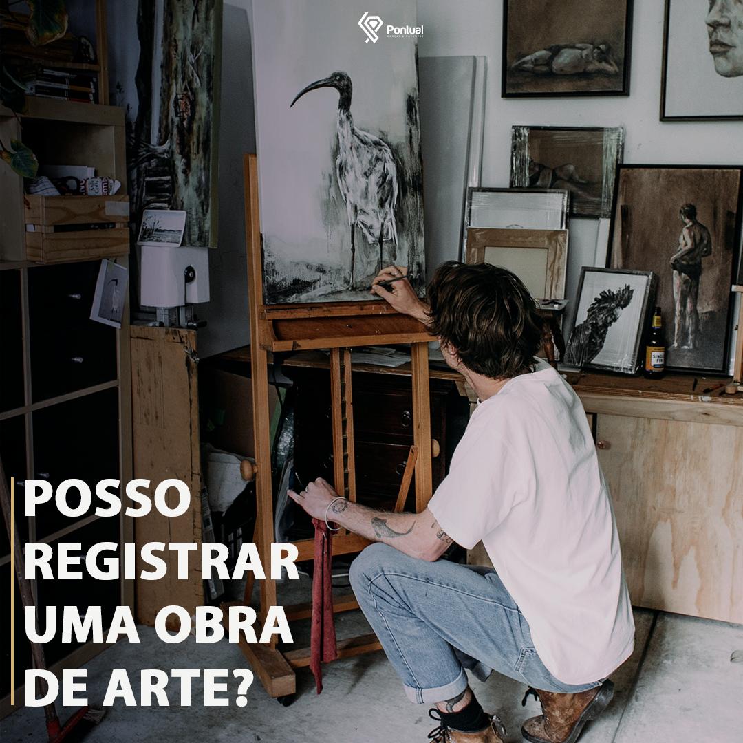 Posso registrar uma obra de arte?