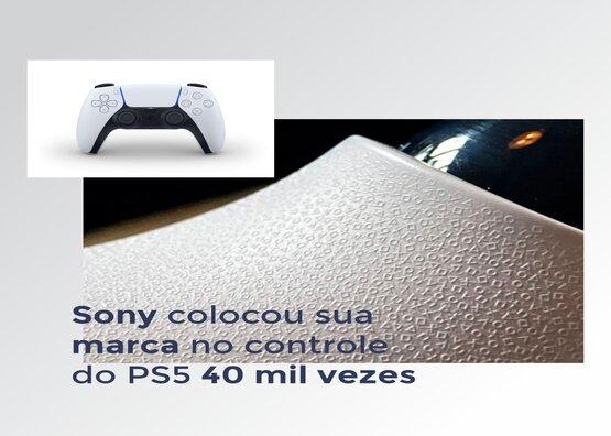 Sony colocou sua marca no controle do PS5 40 mil vezes