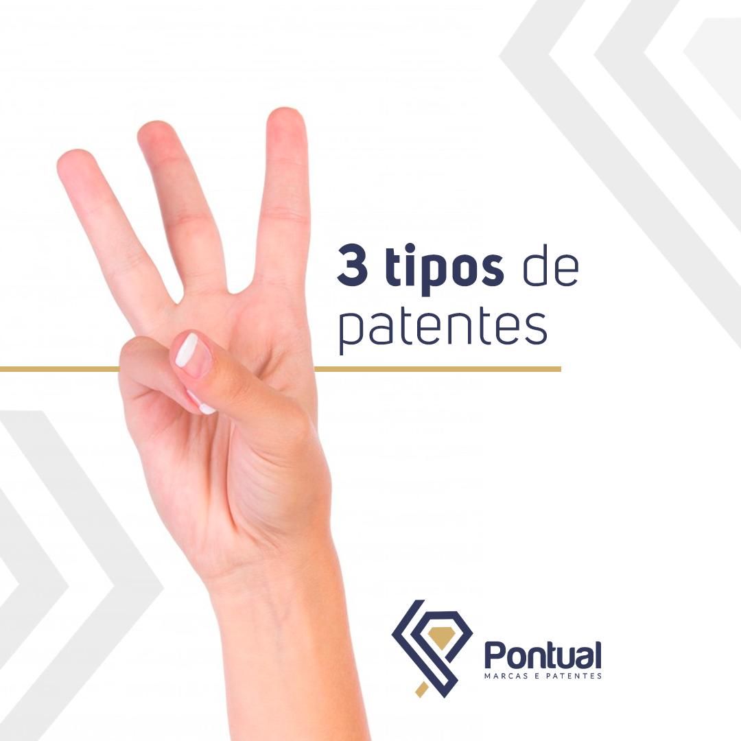 Três tipos de patentes