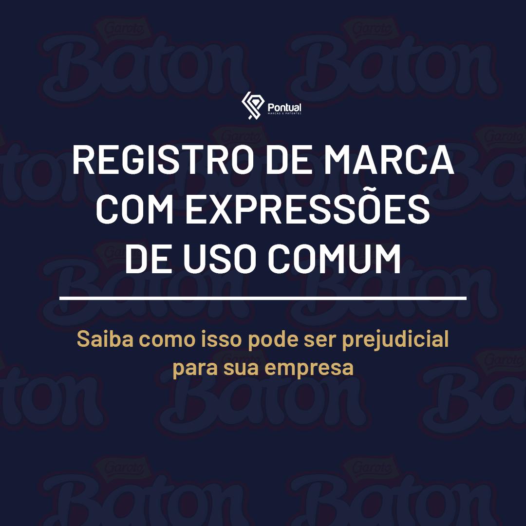 Registro de marca com expressões de uso comum